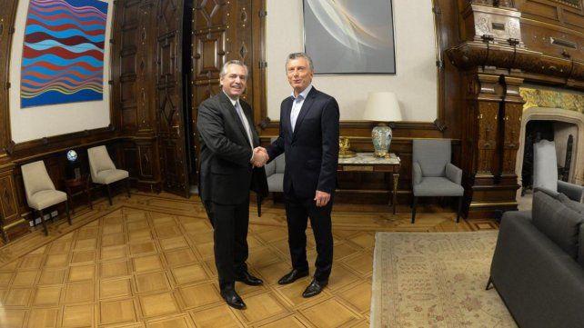 De qué hablaron Macri y Alberto Fernández en el encuentro en la Casa Rosada