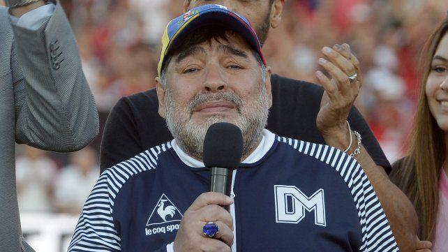 Diego Maradona vuelve al parque como técnico de Gimnasia y Esgrima de La Plata. 29 de octubre de 2019.