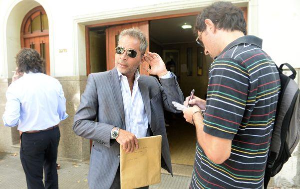 En la fiscalía. Gabriel Navas