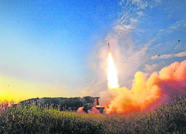 ahí va. Un misil balístico de Seúl
