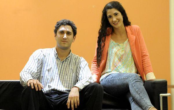 modelos. Esteban y Justina