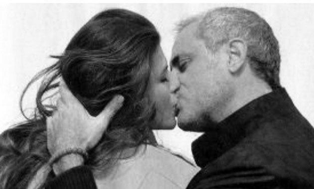 Ella publicó una foto en la que el conductor de Intrusos la besa apasionadamente.