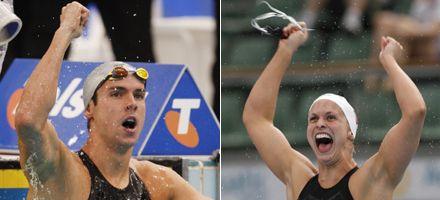 Los australianos Sullivan y Trickett, nuevos records mundiales en natación