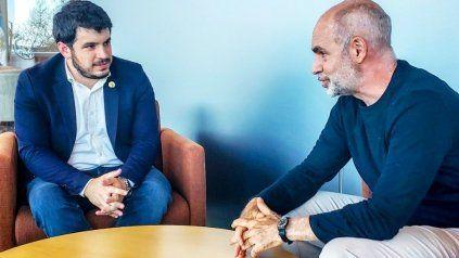 El intendente radical de Venado Tuerto, Leonel Chiarella, estrecha lazos con su par de la CABA, Horacio Rodríguez Larreta.
