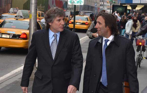 La gran manzana. Boudou y Lorenzino se reunieron para terminar de definir la estrategia que se presentará hoy.