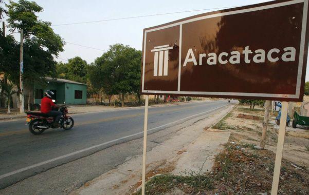 Entrada a la localidad caribeña distante 670 kilómetros de Bogotá. La casa de la infancia de García Márquez.