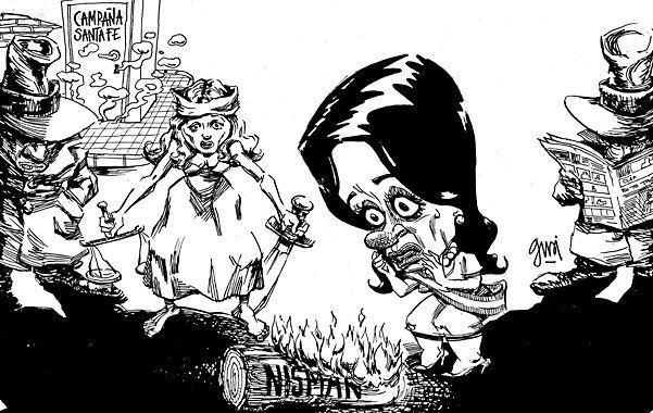 Nisman, con la brasa en la mano