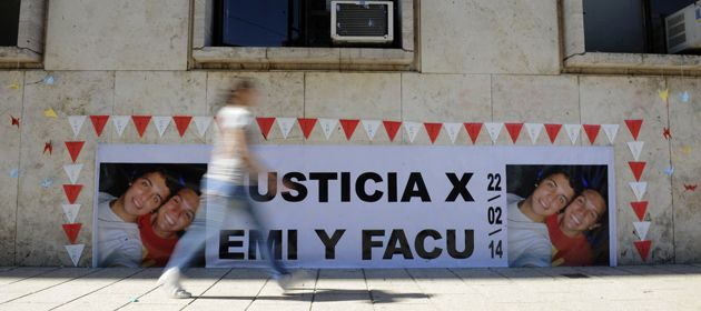 Los pedidos de justicia por las muertes de Emi y Facu se mantienen desde febrero de 2014. (Foto: V. Benedetto)