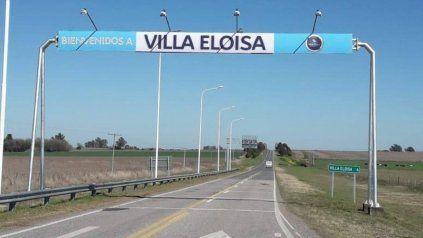 El acceso a Villa Eloísa, donde un acusado de asesinato rompió la tobillera electrónica y se fugó.