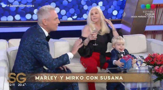 Marley y Mirko visitaron el living de Susana Giménez.