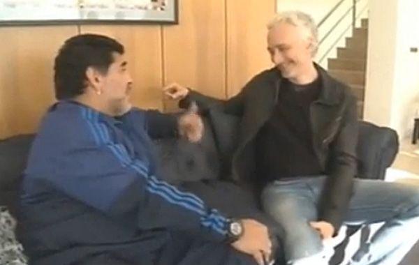 Maradona agradeció a Andy por haberlo metido en esta cruzada.