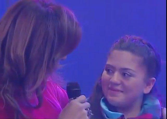 Lizy Tagliani hizo emocionar hasta la lagrimas a una adolescente