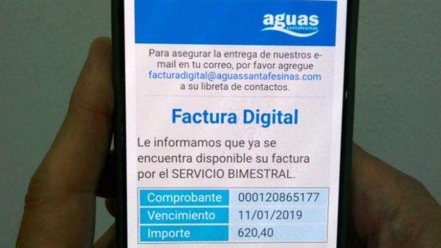 Aguas Santafesinas prorrogó hasta el 22 del enero el pago de la boleta que venció el 11
