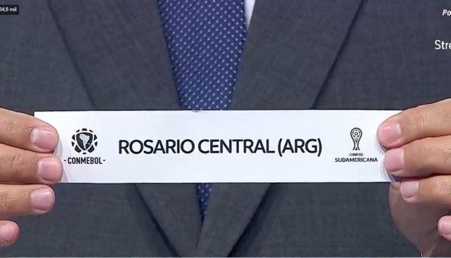 El momento en el que Central salió sorteado, después de Táchira.