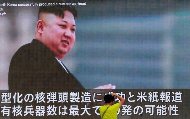 El líder coreano Kim Jong Un en una aparición televisiva.