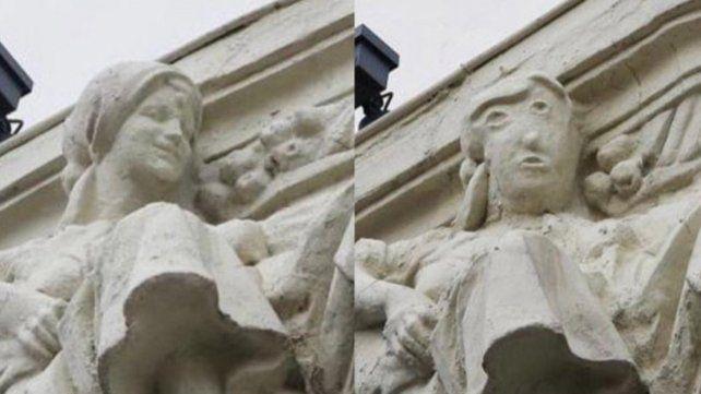 Otra restauración española que convierte una escultura en un grotesco dibujo animado