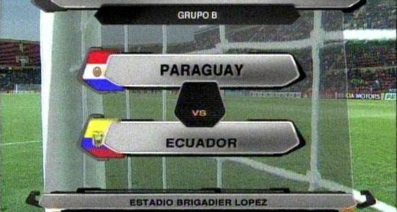 Paraguay y Ecuador empataron 0 a 0 y la primera fecha del grupo B se cerró sin goles