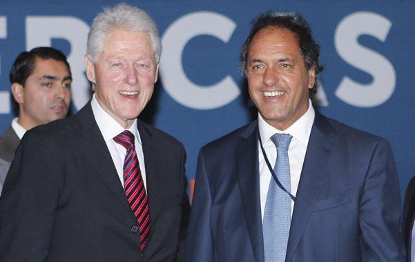 Anfitrión. Scioli disertó en Miami invitado por la Fundación Clinton.