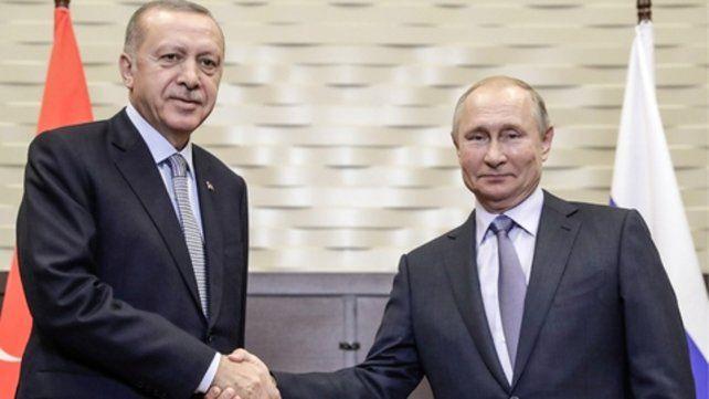 semana pasada. El presidente turco y su colega ruso Vladimir Putin.