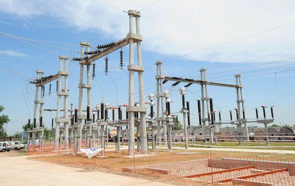 Energía para todos. La estación transformadora será un instrumento vital para la instalación de industrias.