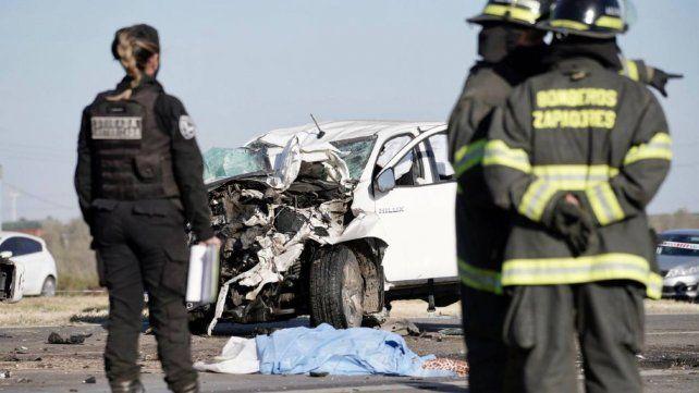 Las impactantes imágenes del choque fatal en la autopista