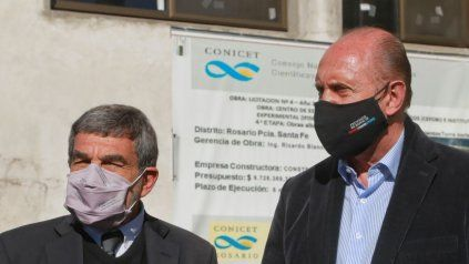 El gobernador Perotti y el ministro de Ciencia y Tecnología de la Nación, Roberto Salvarezza.