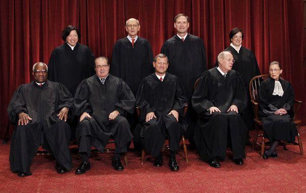 Foto de familia. El máximo tribunal estadounidense vuelve hoy del receso veraniego y estudiarán