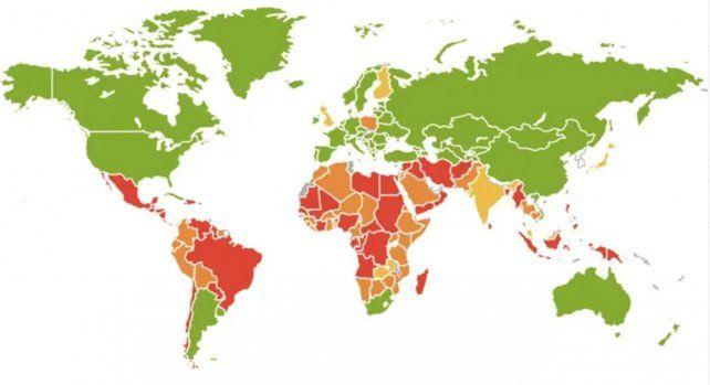 El mapa actuallizado sobre la legislación del aborto en el mundo. Argentina ya es verde.