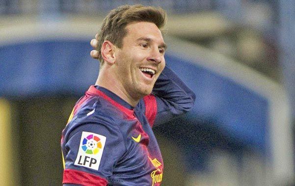 Messi marcó un gol ante Málaga.