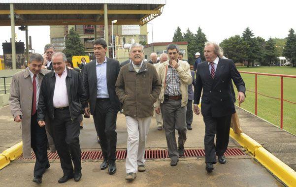Ampliación. El ministro de Planificación Federal de la Nación recorrió la planta de Sorrento.