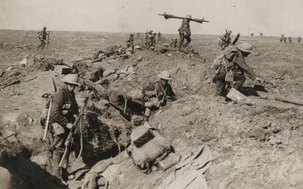 Lucha de trincheras. Tropas británicas durante la sangrienta batalla de Somme