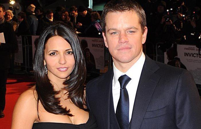 La joven conoció a Matt Damon en una filmación en Miami en 2003.