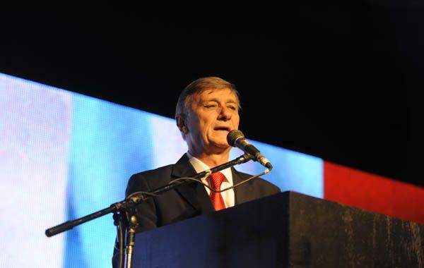 El diputado nacional Hermes Binner fue muy crítico con el discurso de Cristina.