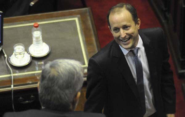 Banca. Insaurralde no participa de las reuniones del PJ y muestra un perfil bajo en la Cámara de Diputados.
