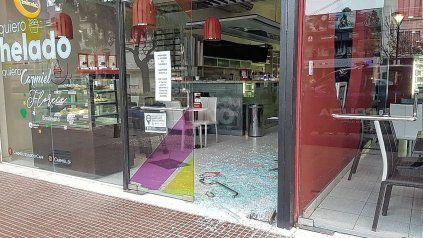 La heladería Carmiel, el pleno Bulevar Gálvez, que robaron dos veces en 72 horas.