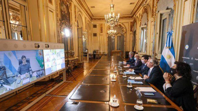 El presidente Fernández en la Casa Rosada
