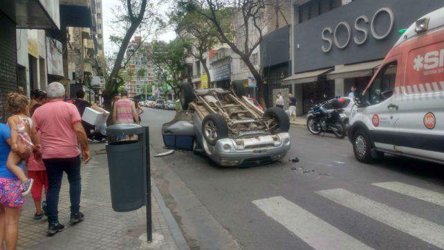 El choque se produjo en la esquina de San Luis y Paraguay.