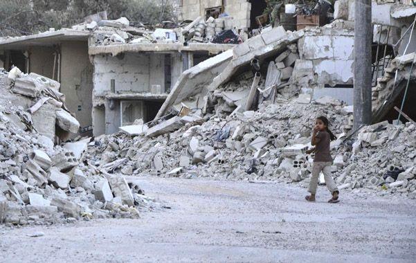 Devastación. Una calle del distrito de Goutha