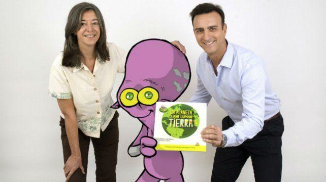 Los autores Cecilia Blanco y Luis Pavesio