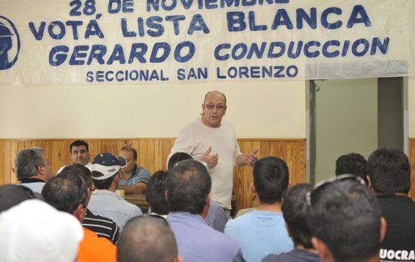 En San Lorenzo. Desde junio pasado la Uocra es conducida por Vergara.