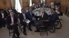 El ministro del Interior de la Nación, Rogelio Frigerio, en la reunión con los gobernadores por Ganancias.