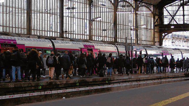 excepción. Un tren llega a la estación Saint Lazare