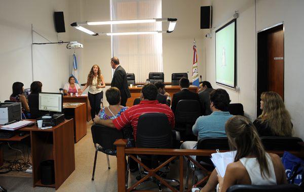 Resultado. La audiencia que comenzó semanas atrás en los Tribunales con la presencia de Liliana Montenegro se pronunció ayer. (foto: Virginia Benedetto)