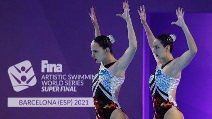 Trinidad López Brasesco y Camila Arregui dejaron todo lo que estaba a su alcance en la pileta Saint Jordi, de Barcelona.