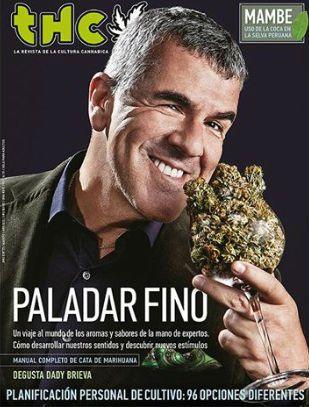 Paladar fino es el polémico título que la revista THC le puso a la nota que hizo con el ex Midachi Dady Brieva.