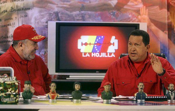 Oficialista. El conocido presentador de La hojilla ha cultivado desde siempre una furiosa lealtad a Hugo Chávez.