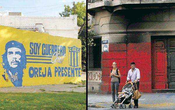 En Valparaíso y Urquiza relacionan a Central con el Che. Queman y pintan la casona de valor patrimonial de Roca y Tucumán.