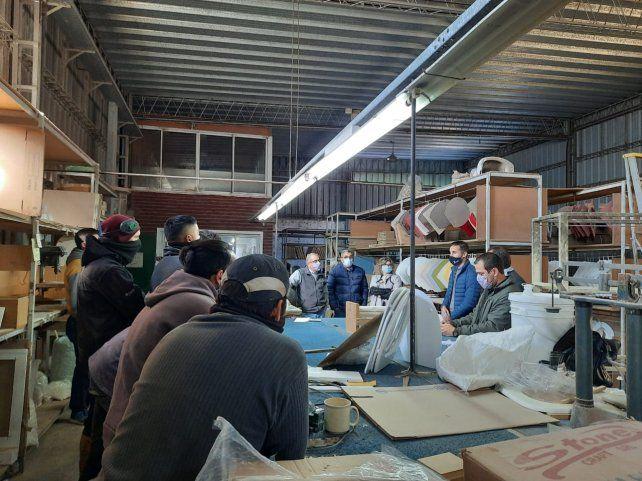 Final feliz. Los trabajadores recuperaron la fábrica Botiquines Marinelli.