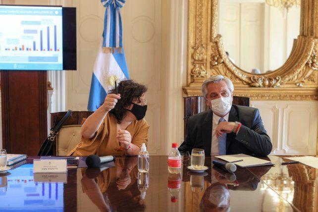 CASA ROSADA. El presidente estuvo acompañado en los encuentros con la ministra de Salud