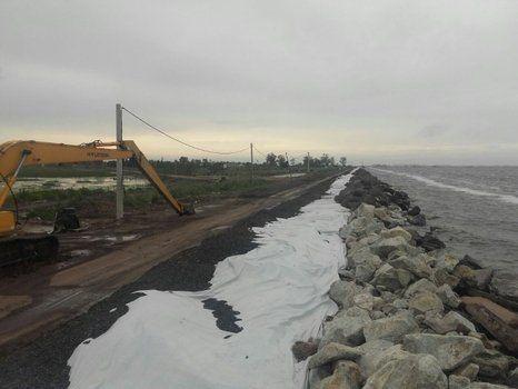 sin piedra. Estaría en camino de solucionarse la falta de provisión de piedras para las defensas en la ruta 90.